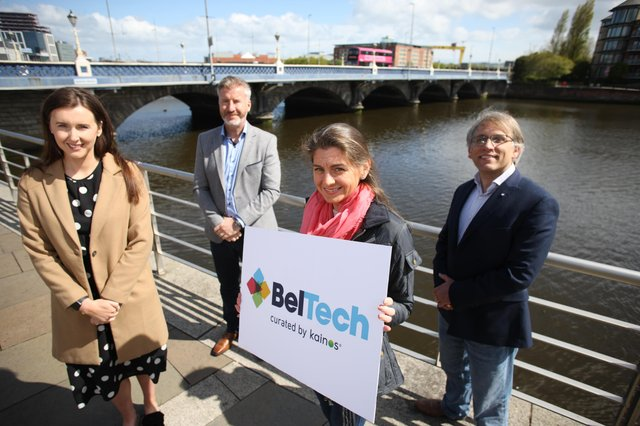 Roisin Hughes, Vice President of Human Resources at Unosquare, Expleo Group Director Rob McConnell, Digital Services CTO at Kainos Aislinn McBride and Expleo Global Head of DevOps Graeme Clarke