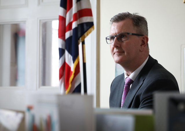 Sir Jeffrey Donaldson MP pictured in his office in Lisburn, Co Antrim.Photo by Kelvin Boyes