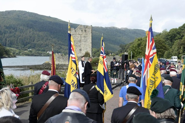 The Parachute Regiment Association's 40th anniversary remembrance service in 2019 for those who died in the Narrow Water bombings on August 27 1979