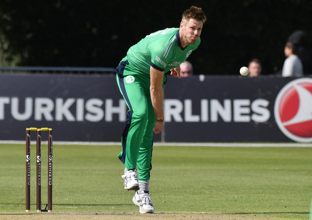 Boyd Rankin - pictured during Ireland duty - proved impressive on his Lisburn debut. Pic by PressEye Ltd