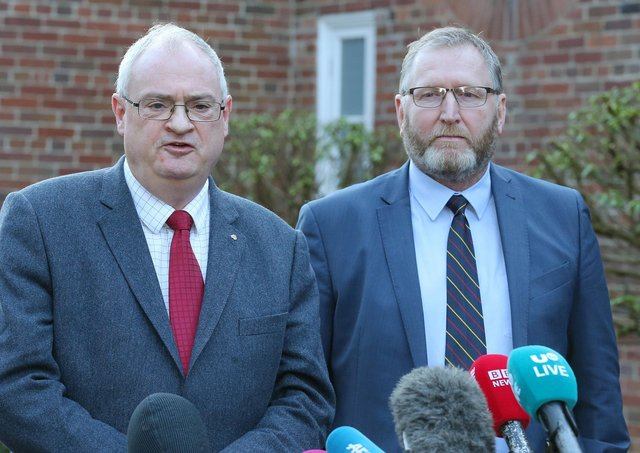 Doug Beattie (right) is the favourite to succeed Steve Aiken, after the former submarine commander announced his resignation as UUP leader