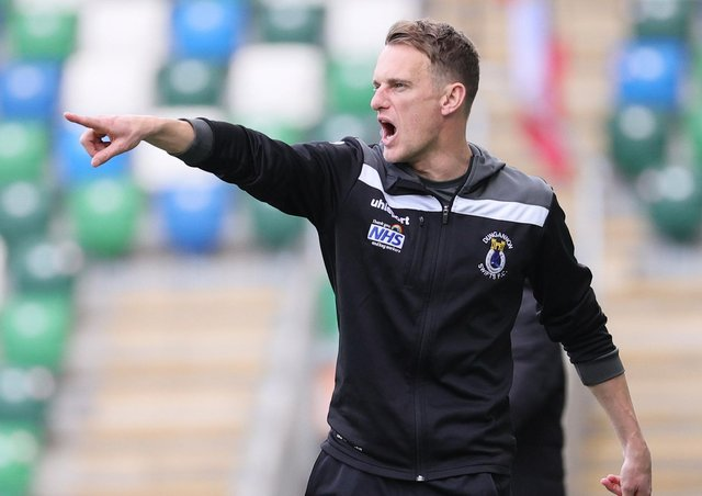 Dungannon Swifts manager Dean Shiels. Pic by Pacemaker.