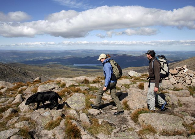 Hiking in the Cairngorm National Park, Aviemore, Scotland.