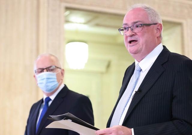Steve Aiken officially tenders his resignation.Photo by Kelvin Boyes /Press Eye.