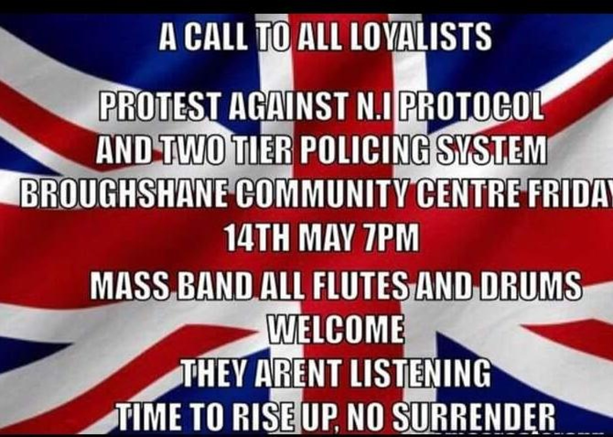 Protest to be hald in Broughshane against NI protocol - details posted on social media