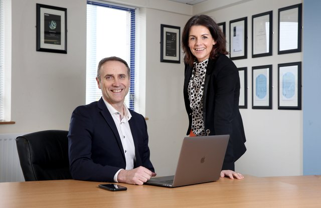 Geoff and Sinead Higgins, founders of Decision Time, which is investing £600,000 and creating 13 jobs