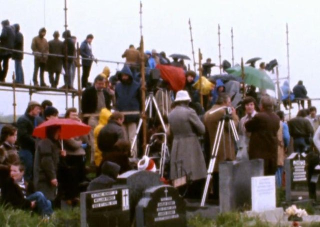 Members of the press during the Troubles