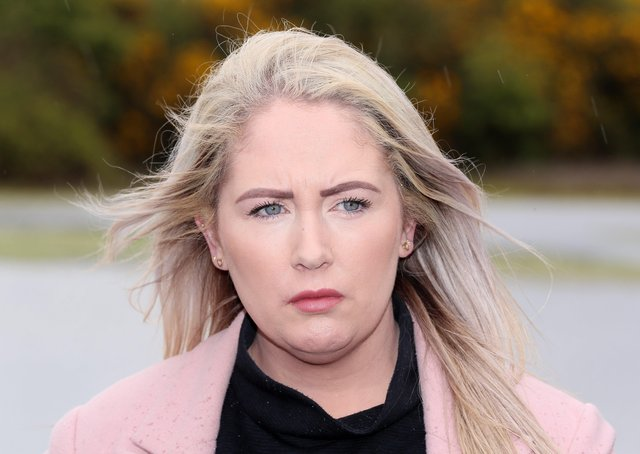 Lisa Dorrian's sister, Joanne, at the clay pits in Ballyhalbert, near where the 25-year-old went missing in 2005