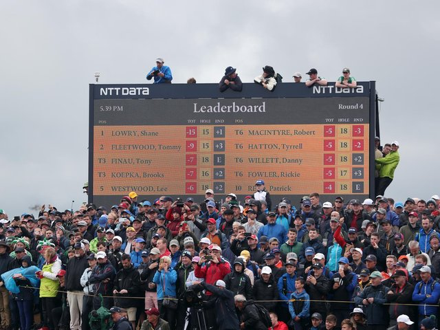 Crowds gather during day four of The Open Championship 2019 at Royal Portrush Golf Club