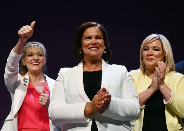 Seen here in happier times, now Mary Lou McDonald and Michelle O'Neill have cast Martina Anderson aside. Photo: Charles McQuillan/Getty