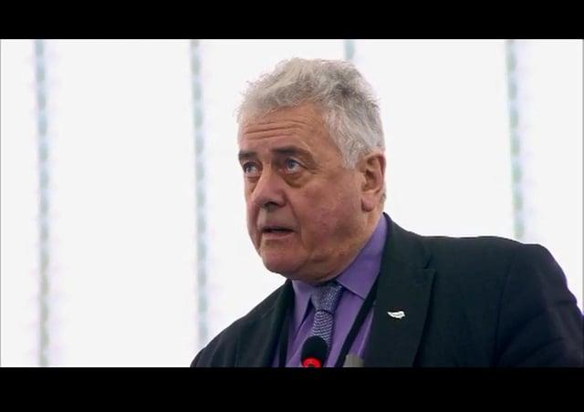 Jim Nicholson, speaking at European Parliament, Strasbourg, 2017