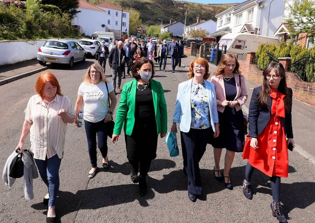 Relatives of the Ballymurphy victims met with Sinn Fein president Mary Lou McDonald on Thursday. Picture: Jonathan Porter/PressEye