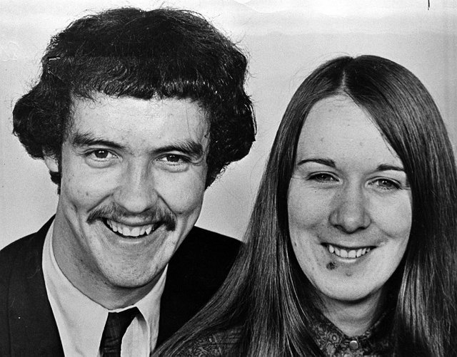 Ronnie and Suzanne Bunting. 30/10/80.932/80/bw