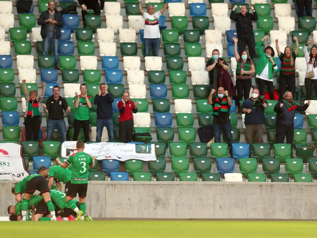 Fans attended last year's final at Windsor Park