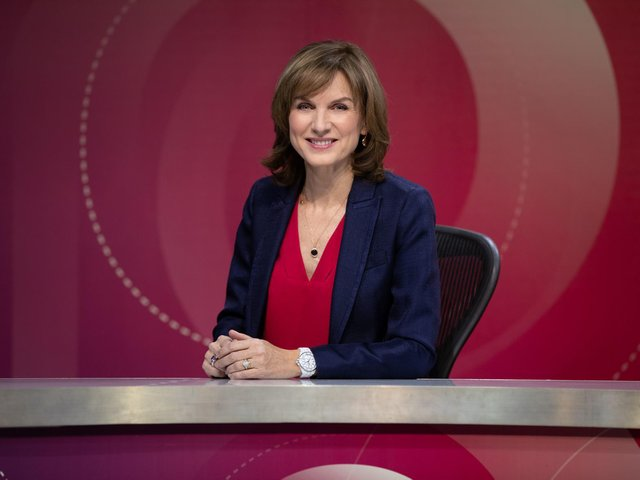 BBC Question Time host, Fiona Bruce.