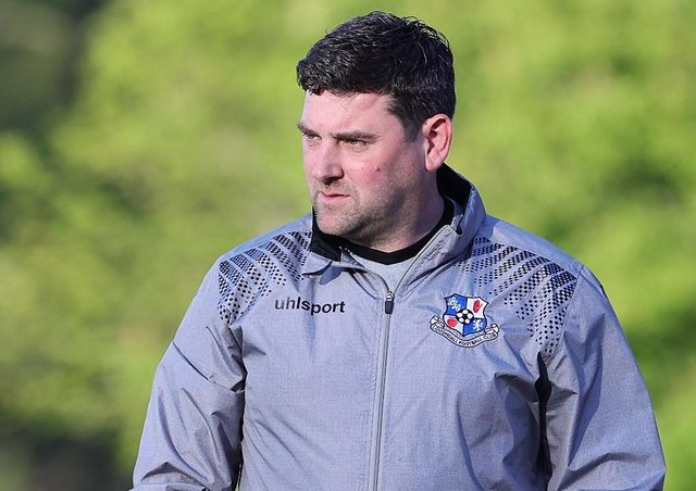 Loughgall manager Dean Smith. Pic by Pacemaker.