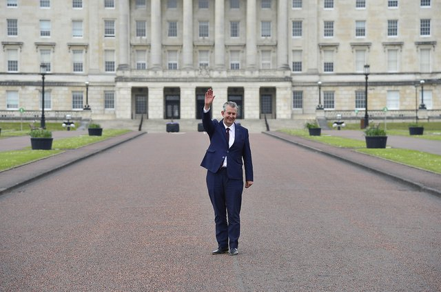 Edwin Poots  pictured at Stormont. Picture By: Arthur Allison.