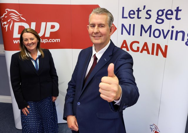 Edwin Poots and Paula Bradley last night celebrated their election as DUP leader and deputy leader respectively