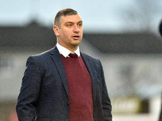Portadown manager Matthew Tipton