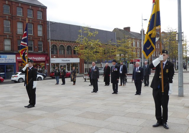 The Royal British Legion marked the support organisation's centenary with a wreath-laying ceremony in Portadown on Saturday. It was one of a number of event taking place across the UK. Photograph: RBL Portadown