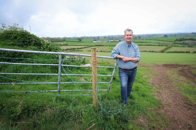Incoming DUP leader Edwin Poots at his home in Lisburn on Sunday