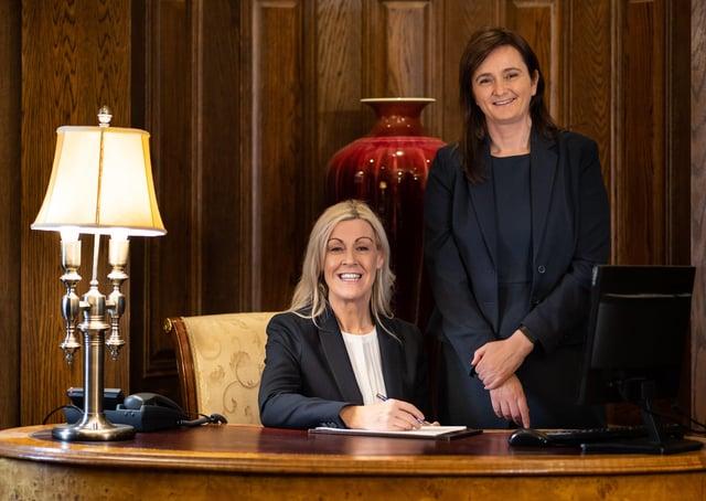 Lough Erne Resort general manager Joanne Walsh and deputy general manager Roisin McFadden