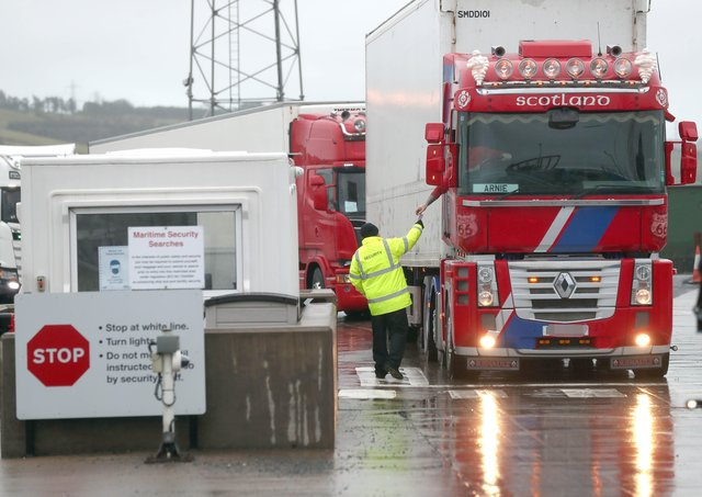 Checks taking place at Larne.PICTURE BY STEPHEN DAVISON