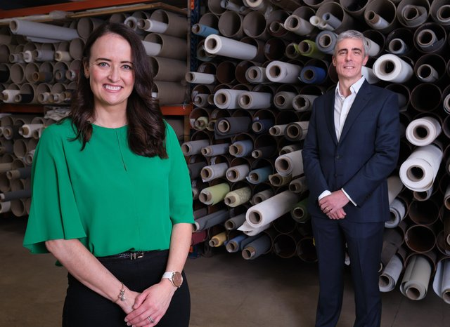 Peter Legge, Tax Partner at Grant Thornton in Belfast joins Ciara McGonnell-Cushnahan, Finance Director at Bloc Blinds