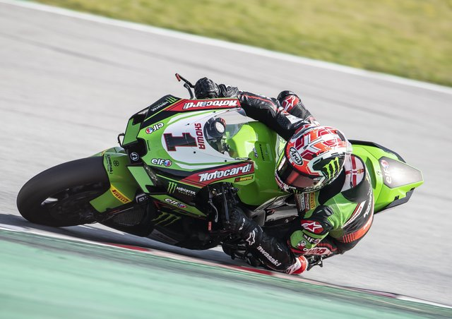 Jonathan Rea has been in impressive form on the new Kawasaki during testing.