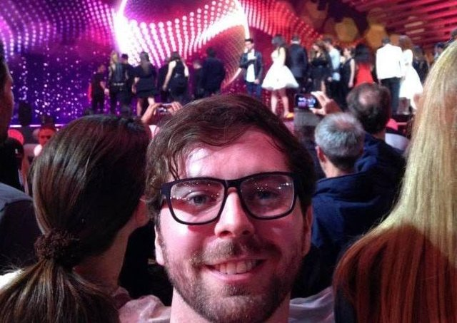 Nicky McElhatton at the Eurovision in Vienna in 2015