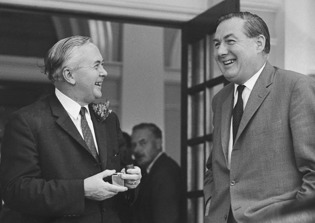The Prime Minister Harold Wilson, seen above with Jim Callaghan in 1965,  had wanted the Unionist MPs to abstain from voting with the Conservatives. Callaghan, who as Home Secretary from 1967 was responsible for NI, said once soldiers were on the streets, troublemakers would revive the republican narrative of British occupation