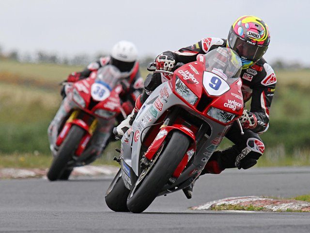 Davey Todd tested the Wilson Craig Honda Supersport machine for the first time at Kirkistown on Monday.