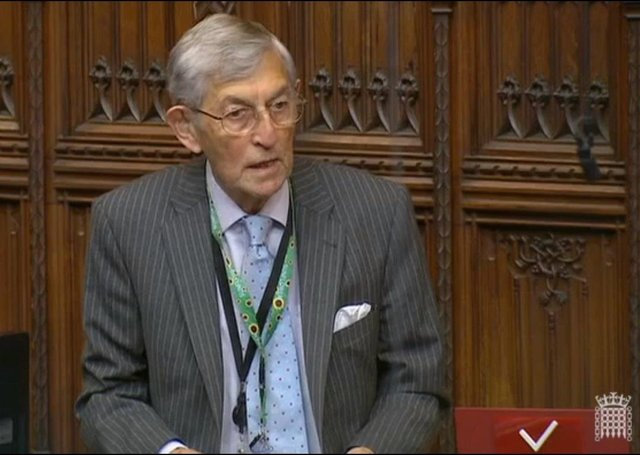 The Ulster Unionist peer Lord Rogan speaking in the House of Lords on Tuesday