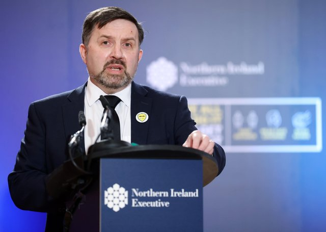 Health Minister, Robin Swann