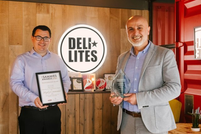 Deli Lites Cathal McDonnell, Technical Manager and Ricky Hanbay, Manufacturing Manager