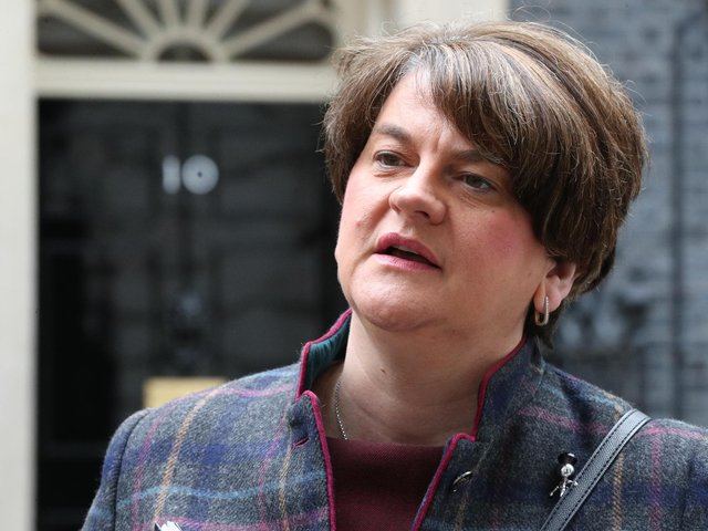 First Minister, Arlene Foster, pictured in Downing Street on Thursday morning.