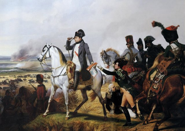 Napoleon at the Battle of Wagram, 16 July 1809, by Horace Vernet