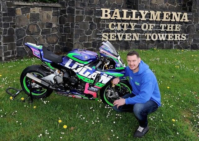 Ballymena's Neil Kernohan with his Logan Yamaha R6.
