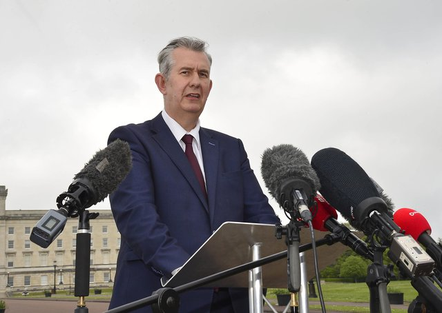 Edwin Poots, pictured at Stormont just after he had been elected DUP leader, is prone to grammatical solecisms. Picture Pacemaker