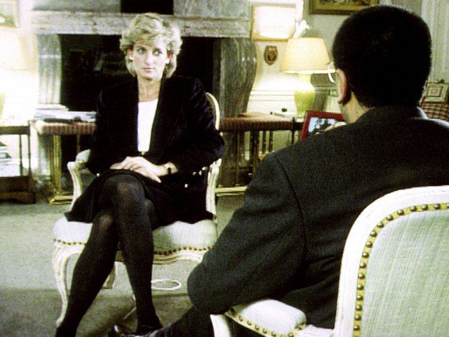 Diana, Princess of Wales, during her interview with Martin Bashir for the BBC.