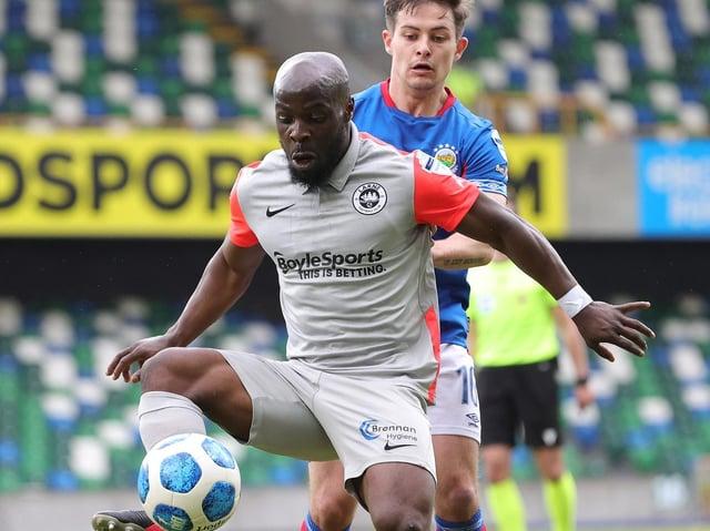 Larne midfielder Fuad Sule