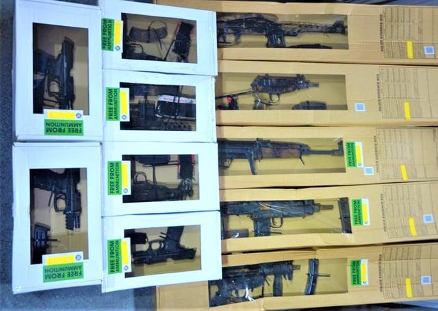 The full cache of guns