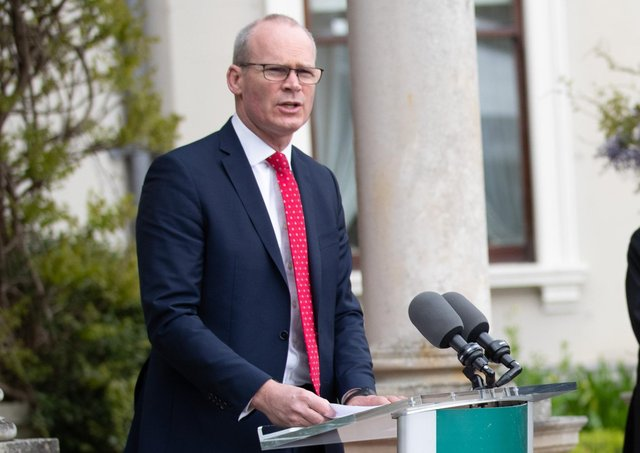 Handout photo issued by Julien Behal Photography of  Minister for Foreign Affairs, Simon Coveney. Issue date: Thursday May 20, 2021.