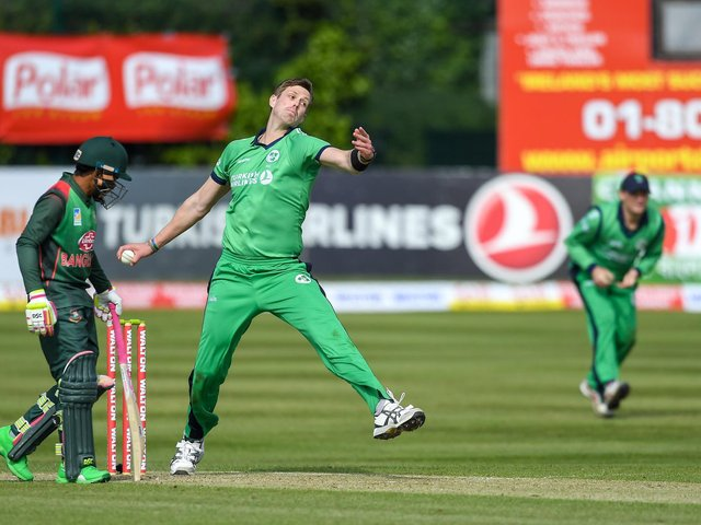 Boyd Rankin in action for Ireland