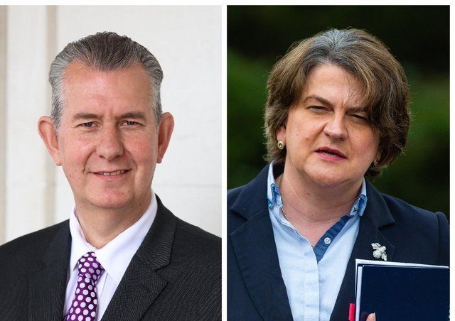 Edwin Poots and Arlene Foster
