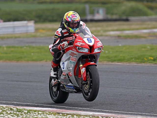Davey Todd will ride the Wilson Craig Honda Supersport machine at the Spring Cup meeting at Oliver's Mount. Picture: Rod Neill.