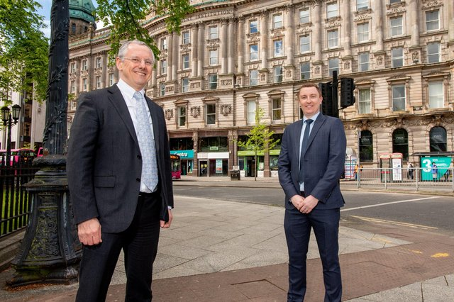 Kevin Holland, CEO, Invest NI with Dr Chris Armstrong, Chief Executive, Overwatch