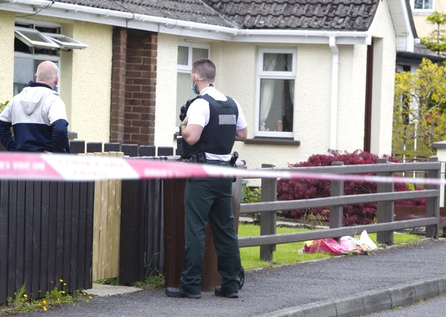 A man has died and another is critically ill followng a house fire in Cloughoge in County Armagh