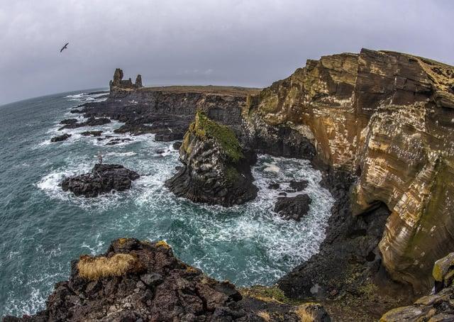 The coastline of Snaefellsness Peninsula