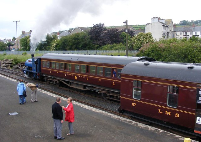 Carriage No. 68 on the track
